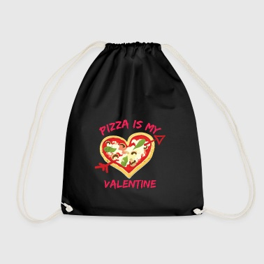 Pizza Is My Valentine Gift Design - Drawstring Bag