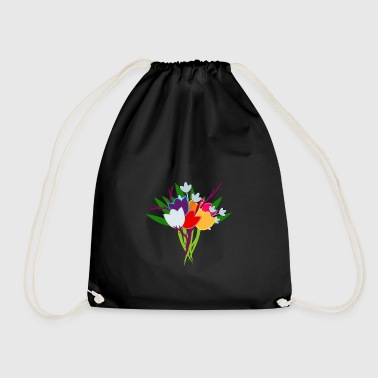 Bouquet of tulips - Drawstring Bag