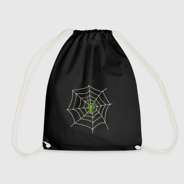 Spider on the web - Drawstring Bag