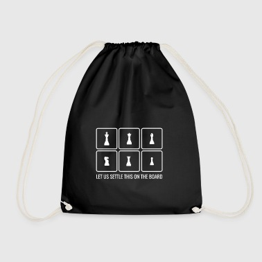 Chess gift player game board idea - Drawstring Bag
