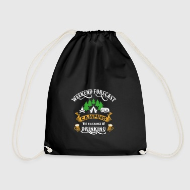 Weekend Camping Camper Drinking Tents Party - Drawstring Bag