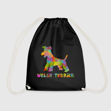 Welsh Terrier Multicolored - Drawstring Bag