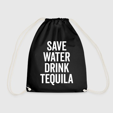 Drink Tequila Funny Quote - Drawstring Bag