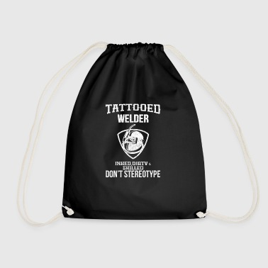 Tattooed welder - Drawstring Bag