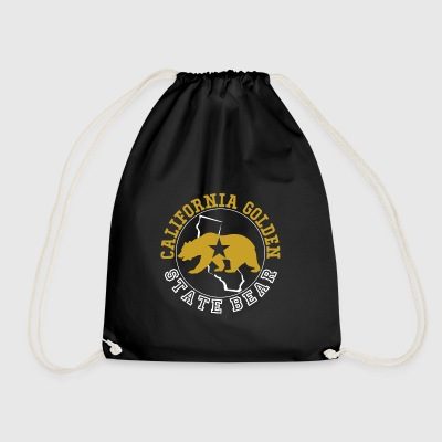California Golden State Bear - Drawstring Bag