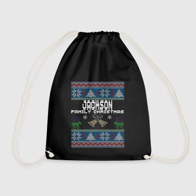 Ugly Jackson Christmas Family Vacation Tshirt - Drawstring Bag