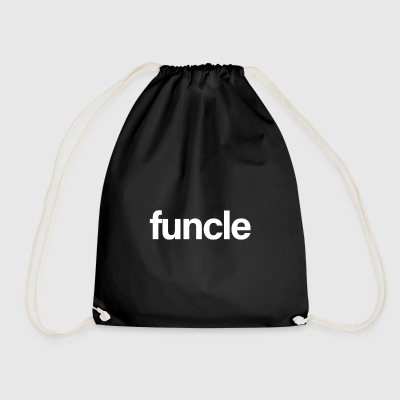Funcle White - Drawstring Bag