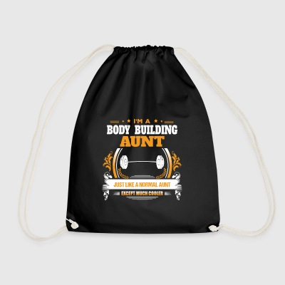 Body Building Aunt Shirt Gift Idea - Drawstring Bag