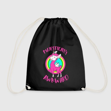 Unicorn Lama: embarrassing is not possible? colorful trendy + - Drawstring Bag