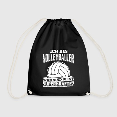 Lustiges Volleyball Shirt Ich Bin Volleyballer - Turnbeutel