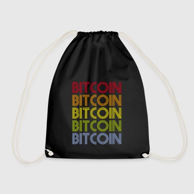 BITCOIN Retro T-Shirt - Drawstring Bag