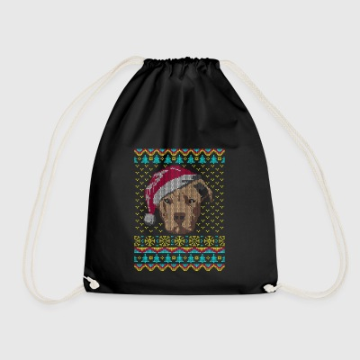 Pit Bull Pit Bull Ugly Christmas Sweater Gift - Drawstring Bag