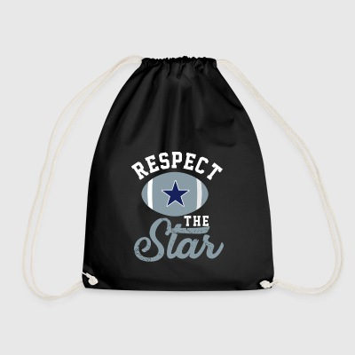 Respect the Star Texas Team Fan - Drawstring Bag