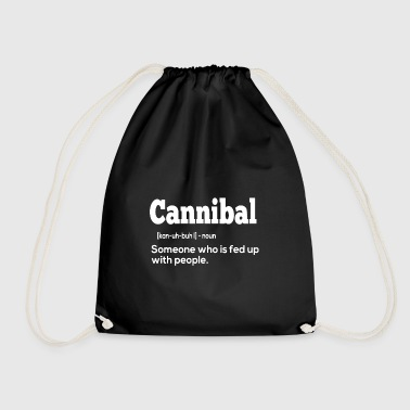 Cannibal gift for Antisocial People - Drawstring Bag
