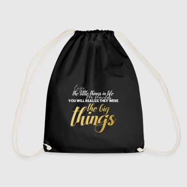the little things of life - Drawstring Bag