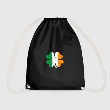Four Leaf Clover gift for Ireland Lovers - Drawstring Bag