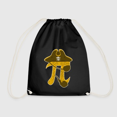 Pi Pirate Funny Algebraic Mathematic Symbol Sign - Drawstring Bag