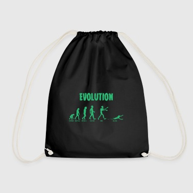 Evolution - Zombie - Undead - Funny - Cool - Drawstring Bag