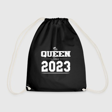 His Queen since partner Valentine's Day couple 2023 - Drawstring Bag