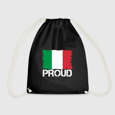 Pride flag flag home origin Italy png - Drawstring Bag