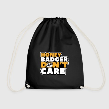 honey badger dont care - Drawstring Bag