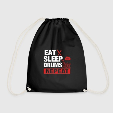 Eat Sleep Drums Repeat - Drums - Drawstring Bag