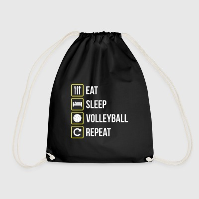 Eat Sleep Volleyball Repeat - Turnbeutel