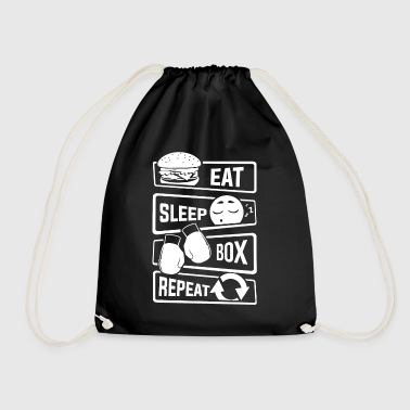 Eat Sleep Box Repeat - Boxen Boxer Uppercut Jab - Turnbeutel