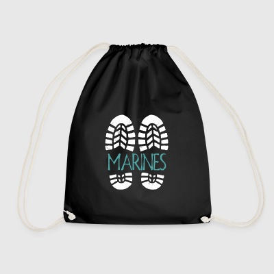 Marines. Color choice. Add your text - Drawstring Bag