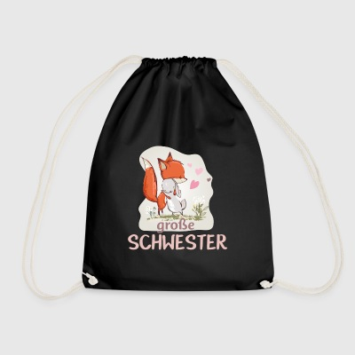 big sister unicorn fox bunny hug - Drawstring Bag