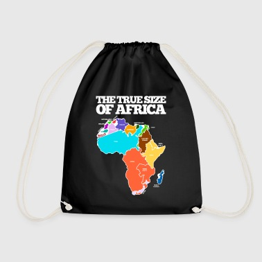 THE TRUE SIZE OF AFRICA - Drawstring Bag