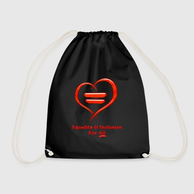 equality and inclusion - Drawstring Bag