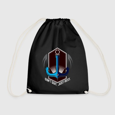 Anchor - Do not give up - just rest - Drawstring Bag