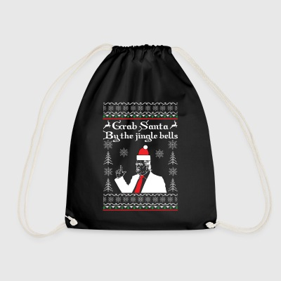 Grave Santa by the Jingle Bells - Drawstring Bag