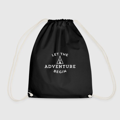 Let the adventure - Drawstring Bag