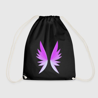 Wing pink - Drawstring Bag