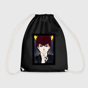 Womens T-shirt: Shush Design by Tina Ditte - Drawstring Bag