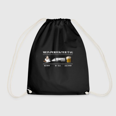 Truck Driver My Perfect Day Truck Driver - Drawstring Bag