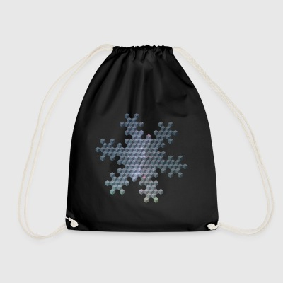 Star flake cube R13-15 - Drawstring Bag