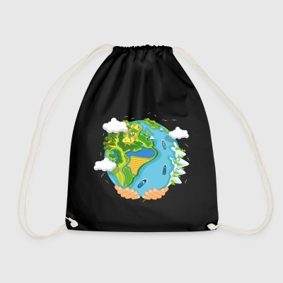 water planet - Drawstring Bag