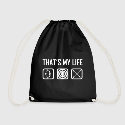 This is my life - bow arrow bow arrows - Drawstring Bag