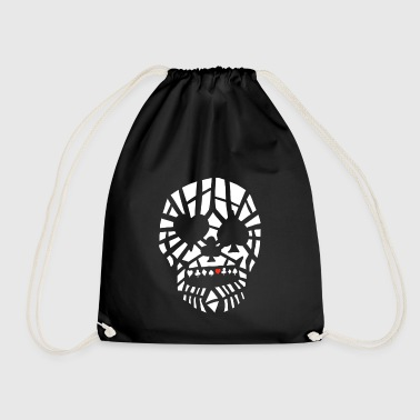 Fractured Skull by Full Range Poker - Drawstring Bag