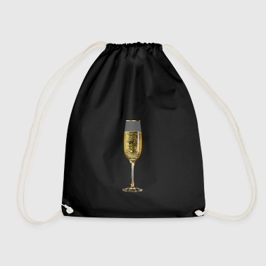 Champagne sparkling glass - Drawstring Bag