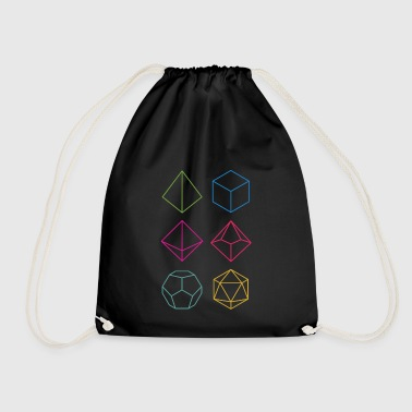Minimal dnd (dungeons and dragons) dice - Drawstring Bag