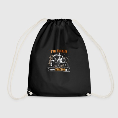 farmer tractor - i am totally undertractored - Drawstring Bag
