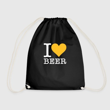 I Love Beer! - Drawstring Bag