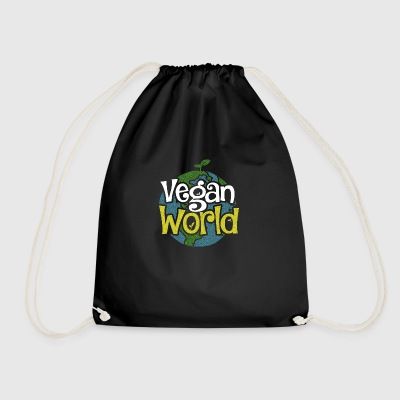 Vegan World Vegan world for a better earth - Drawstring Bag