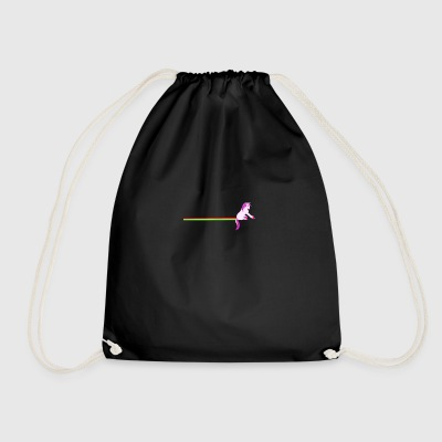 Unicorn rainbow Slide Sliding - Drawstring Bag