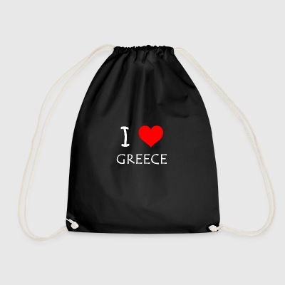 I Love Greece - Drawstring Bag