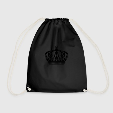 crown keep calm - Drawstring Bag